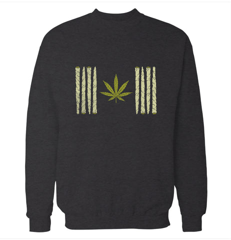 Canadian Weed Flag Sweatshirt
