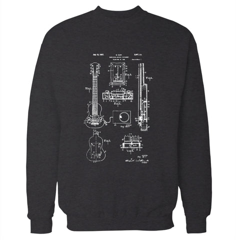Electric Guitar Patent Sweatshirt
