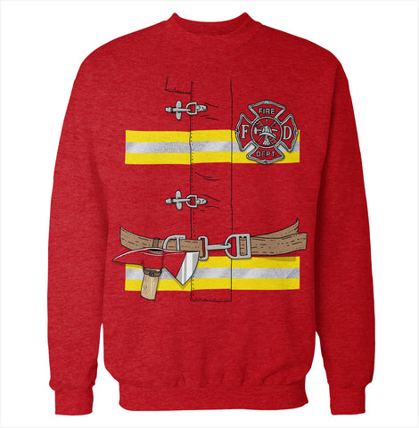 Firefighter Costume Sweatshirt