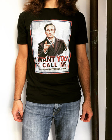 I Want You to Call Me 'Better Call Saul' T-Shirt
