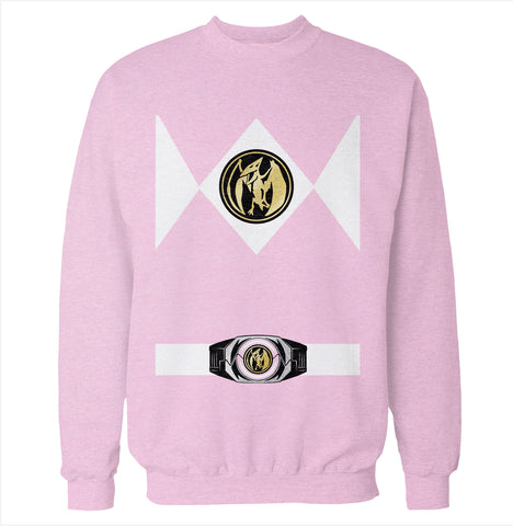 Pink Power Ranger Costume Sweatshirt