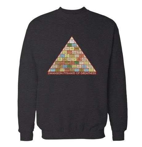 Pyramid of Greatness 'Parks and Recreation' Sweatshirt