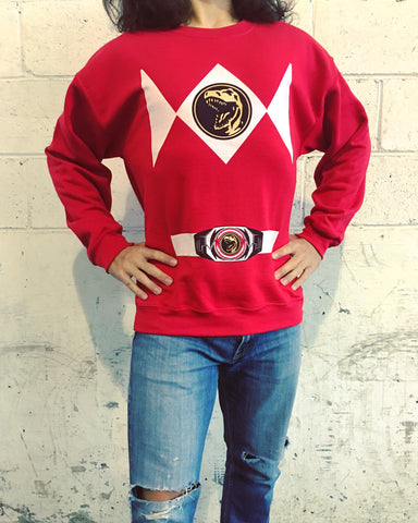 Red Power Ranger Costume Sweatshirt