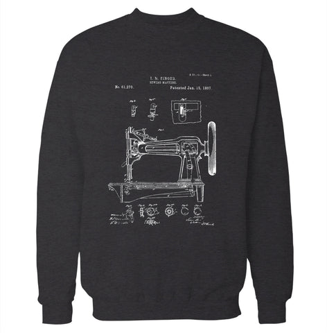 Sewing Machine Patent Sweatshirt