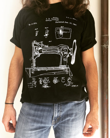 Sewing Machine Patent T-Shirt