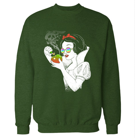 Snow White Apple Bong Sweatshirt