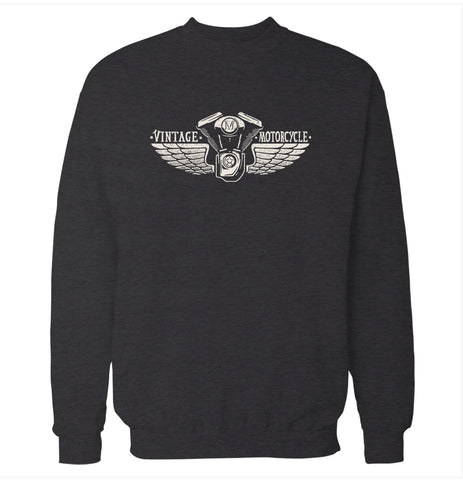 Vintage Motorcycle Wings Sweatshirt