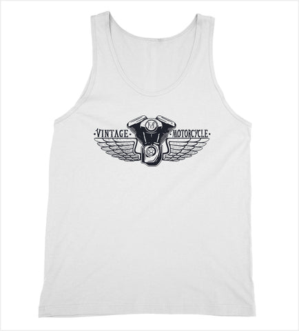 Vintage Motorcycle Wings Tank