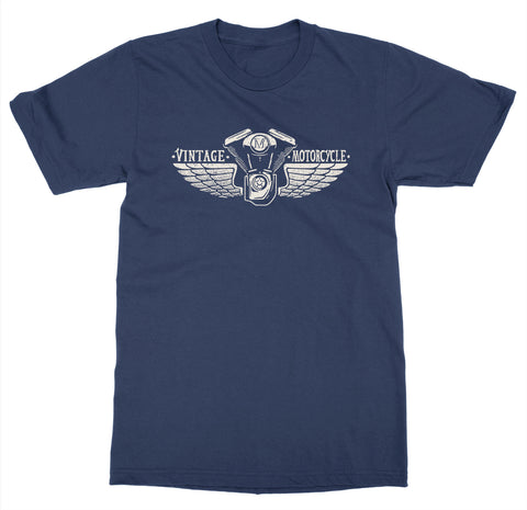 Vintage Motorcycle Wings T-Shirt