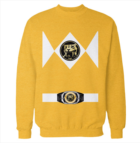 Yellow Power Ranger Costume Sweatshirt