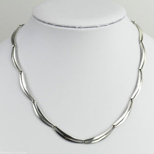 Vintage Retro style solid silver Necklace Italy K&L 800