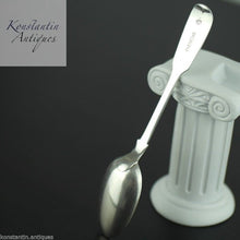 Load image into Gallery viewer, Antique 19thC Sterling silver spoon S London 1850 Victorian Duty