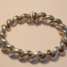 Load image into Gallery viewer, Vintage sterling silver snake chain bracelet ITALY 925