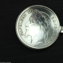 Load image into Gallery viewer, Antique 1868 solid silver coin spoon French Empire Napoleon III 1 Franc