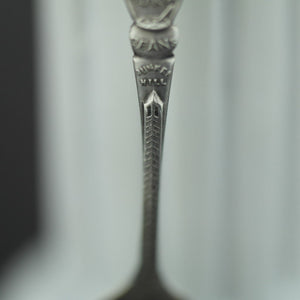 Antique sterling silver spoon picture The Boston Hub USA Old South Church 1775