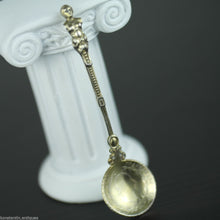 Load image into Gallery viewer, Antique 1830 gold plated solid silver 20 Kreuzer coin spoon Francis II Holy Roman Emperor Empire 800