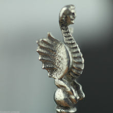 Load image into Gallery viewer, Antique solid silver coin spoon Ottoman Empire Turkey Kurush Islamic harpy rare