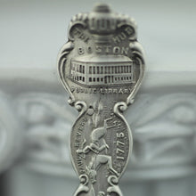 Load image into Gallery viewer, Antique sterling silver spoon picture The Boston Hub USA Old South Church 1775