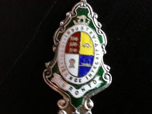 Antique enamel Sterling silver spoon TORONTO Coat of Arms