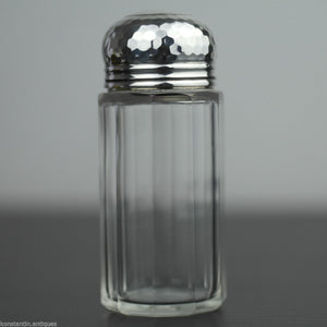 Antique 1906 cut glass vanity bottle solid silver lidl made in London