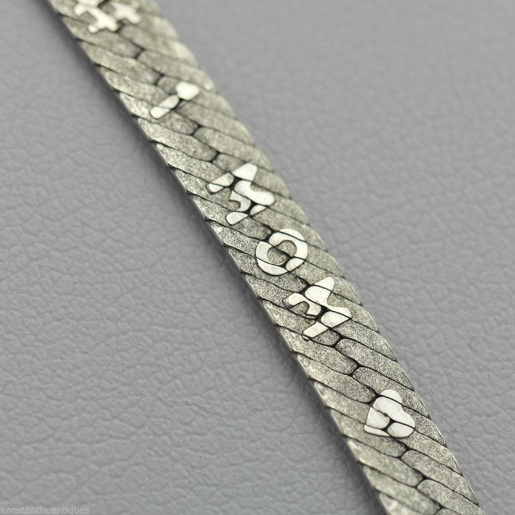 One MOM - Vintage 500 mm snake solid silver necklace neck chain Italy