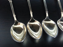 Load image into Gallery viewer, Antique set of six solid silver gilt enamel tea spoons David Andersen Norway