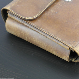 Antique 1911 original leather soldier hygiene case