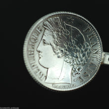 Load image into Gallery viewer, Antique 1872 solid silver coin spoon France Republique Liberte 1 Franc