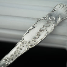 Load image into Gallery viewer, Antique sterling silver spoon Manitou Colorado USA ornamented picture