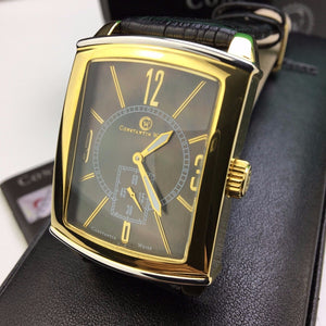 Automatic 20 jewels gild wrist watch Constantin Weisz Black Mother of Pearl dial