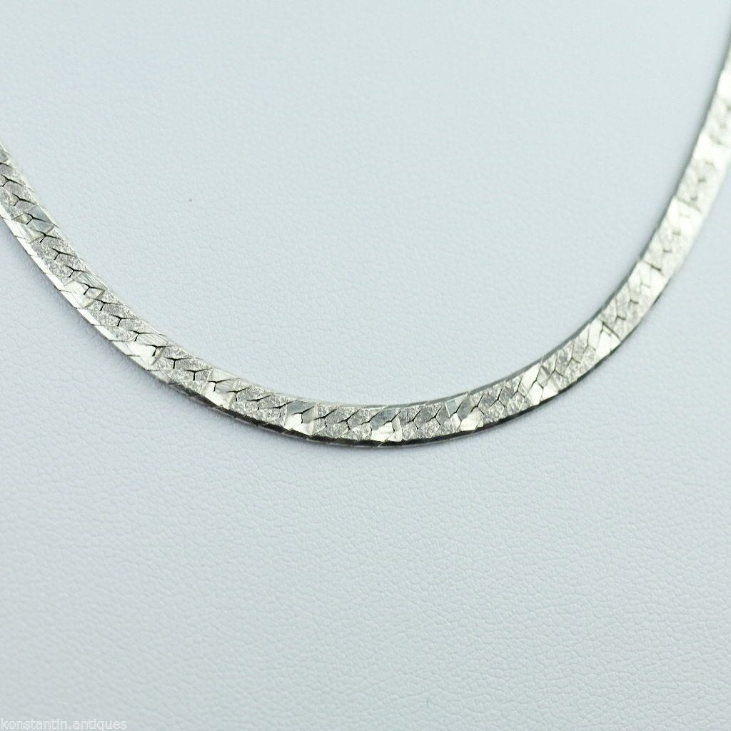 Vintage 450 mm snake sterling silver necklace neck chain made in Italy 925
