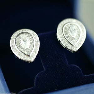 Simply Fine sterling silver earrings with Cubic Zirconia stones