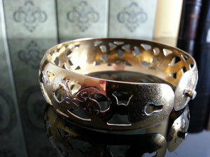 Vintage 1961 solid silver gold plated Niello bangle Russian bracelet 875