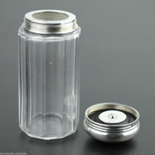 Load image into Gallery viewer, Antique 1892 cut glass vanity bottle sterling silver topped London