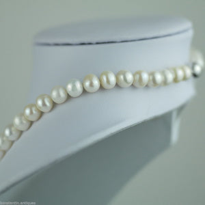 Freshwater Pearls necklace bead clasp sterling silver