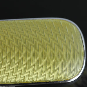 Vintage 1927 sterling silver yellow guilloche enamel brush Birmingham British