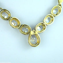 Load image into Gallery viewer, Vintage gold layered sterling silver necklace Swarovski Crystals Italy 925