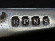 Load image into Gallery viewer, Antique silver plated serving fork  British Empire