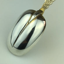 Load image into Gallery viewer, Antique 1910 sterling silver anointing spoon London British Empire