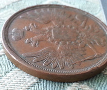 Load image into Gallery viewer, Antique 1856 coin 3 kopeks Emperor Alexander II of Russian Empire 19thC SPB