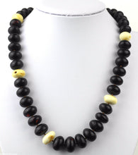Load image into Gallery viewer, Genuine Baltic Amber beads necklace White egg yolk Dragon blood