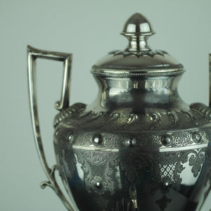 Victorian silver plated hot water urn tea samovar Cooper Brothers Sheffield