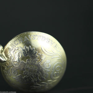 Antique 1787 gold plated solid silver 20 Kreuzer coin spoon IOSEPH Austrian Empire 800 German