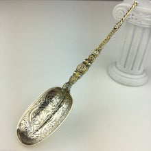 Antique 1910 sterling silver anointing spoon London British Empire