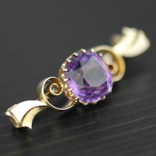 Load image into Gallery viewer, Antique 4.30ct Siberian Amethyst 14ct gold pin brooch 56 Russian Empire