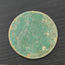 Vintage 1929 coin One penny George V Great Britain Bronze with patina nice gift