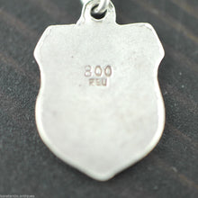 Vintage enamel solid silver charm pendant PISA ITALY 800 REU gift