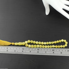 Load image into Gallery viewer, Genuine Baltic Amber beads bracelet Islam Tesbih Rosary White Cloudy yolk Tespih