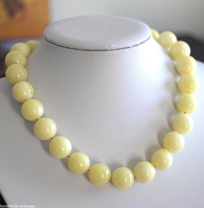 Vintage beads plastic amber colour necklace and earrings