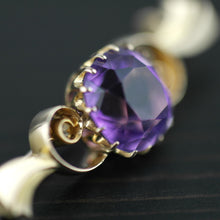 Antique 4.30 ct Siberian Amethyst 14ct gold pin brooch 56 Russian Empire